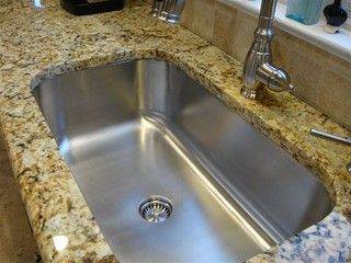 Seamless Sink In Granite Kitchen Setting Large Single Bowl Traditional Sinks Cincinnati