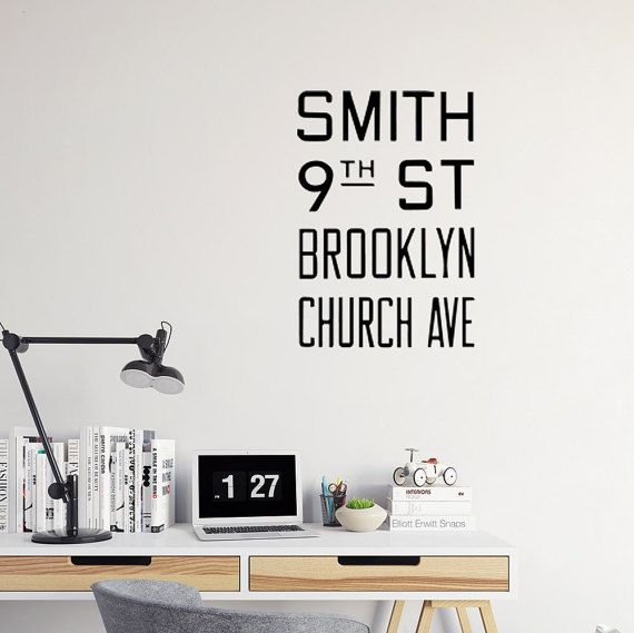 Brooklyn Decal New York Wall Art NYC Subway New York Wall Decal - Custom vinyl decals brooklyn