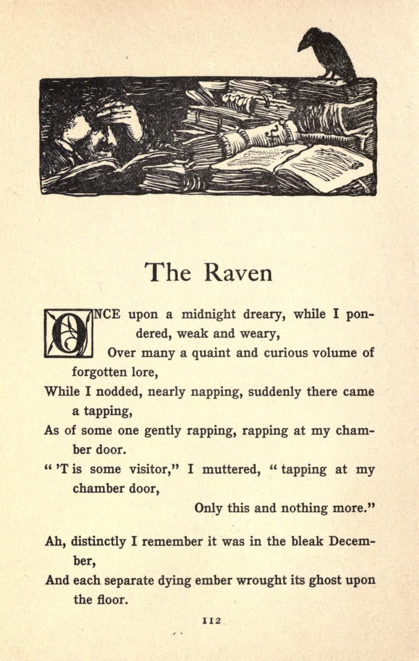 The First Verse Of Raven By Edgar Allan Poe 1845 Quote Allen Quotes Poetry