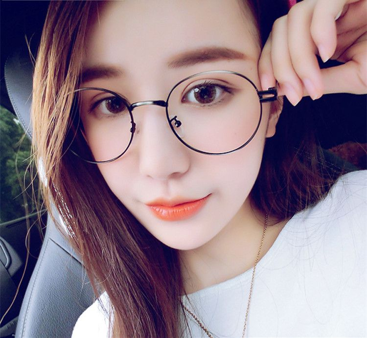 2015 New Korea Fashion Brand Metal Vintage Glasses Round