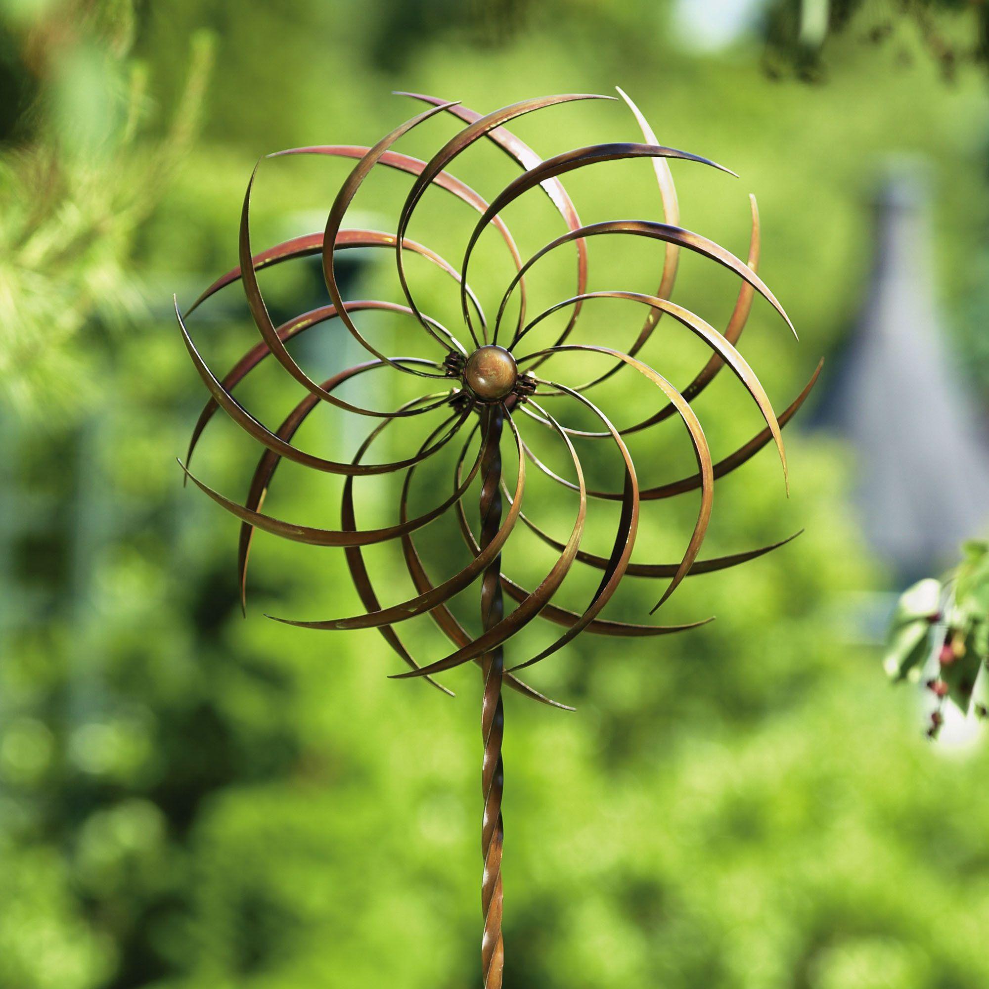 Pinwheel Kinetic Garden Wind Spinner With Stake Dream