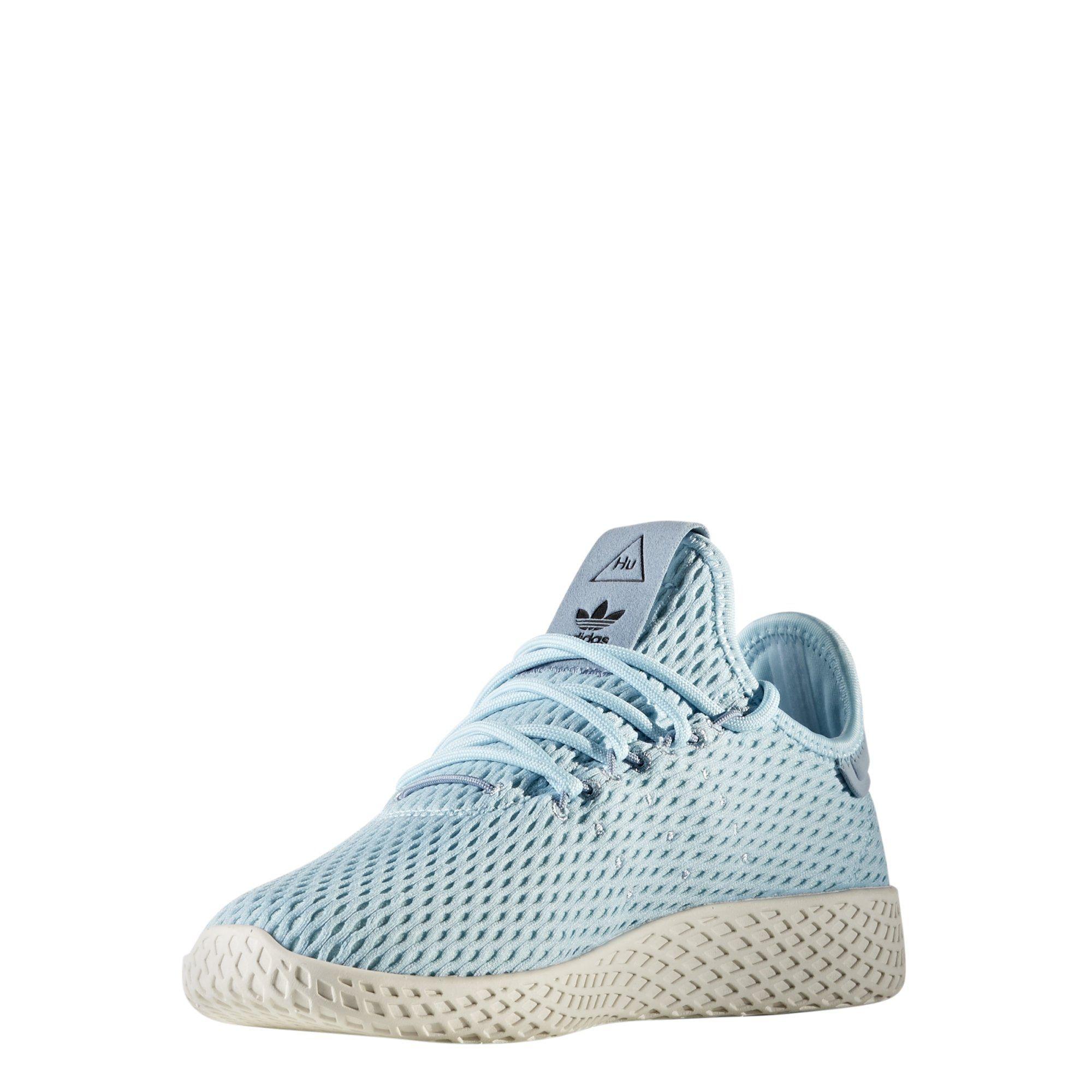 d58bbc800052f Adidas x Pharrell Williams Big Kids Tennis HU J blue icey blue footwear  white Size 4.0