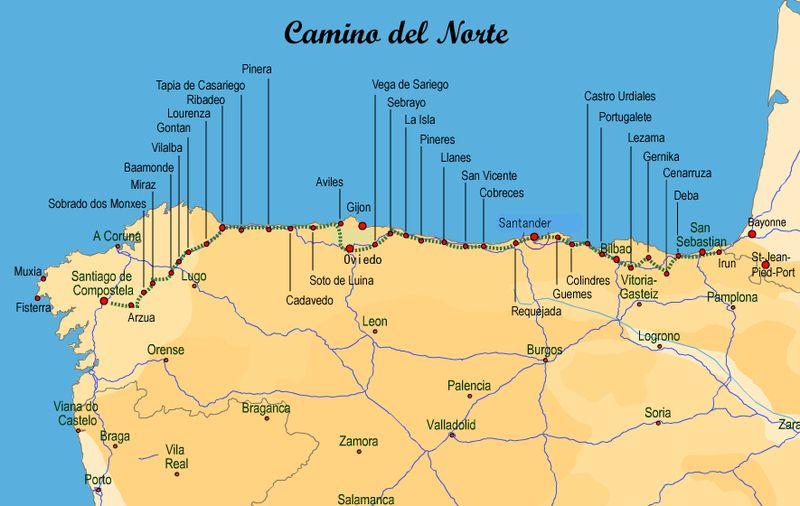El Camino de Santiago. El Camino del Norte