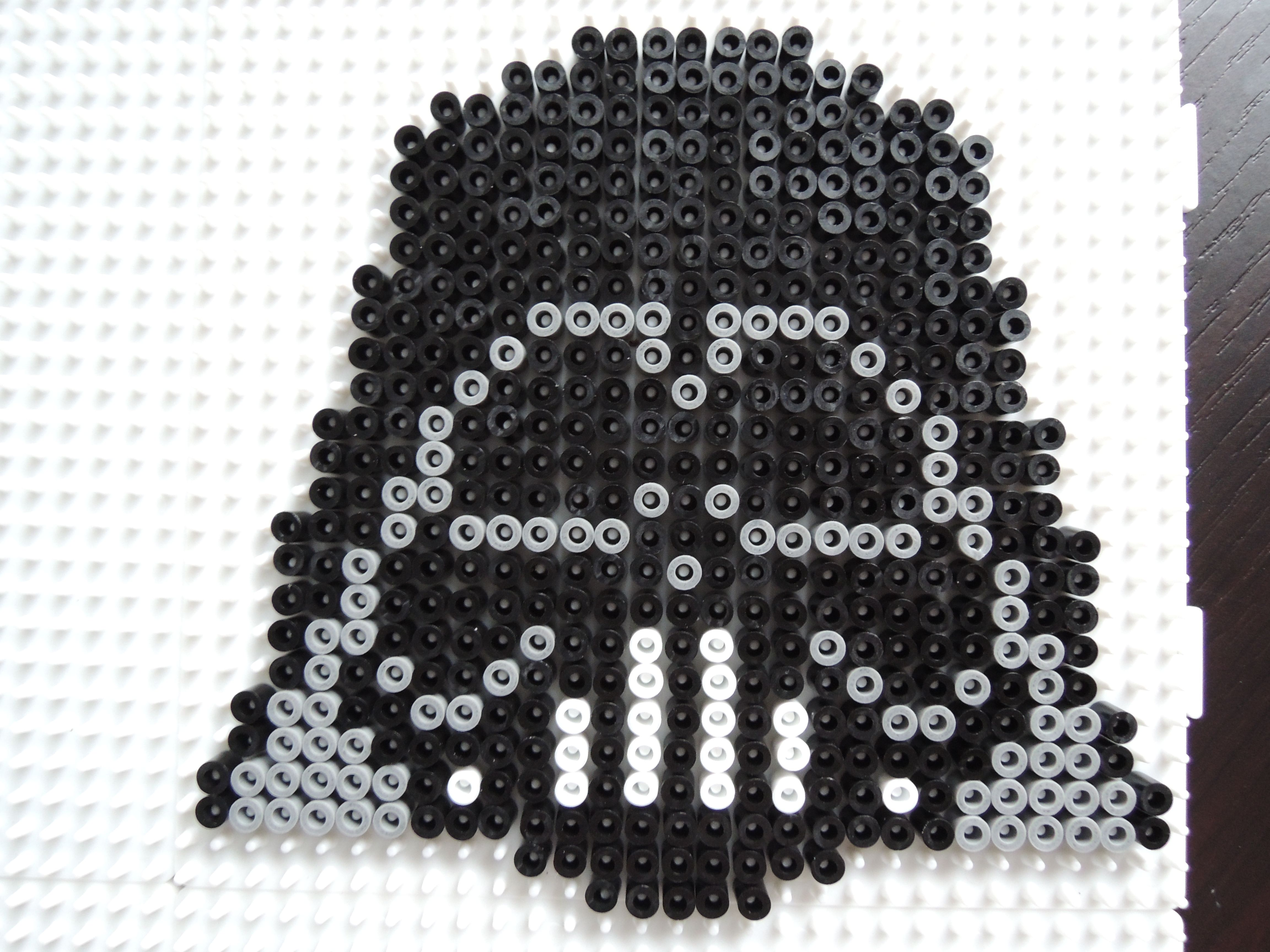 Darth Vader Aus Bugelperlen Perler Beads By Baumberger Entdecker