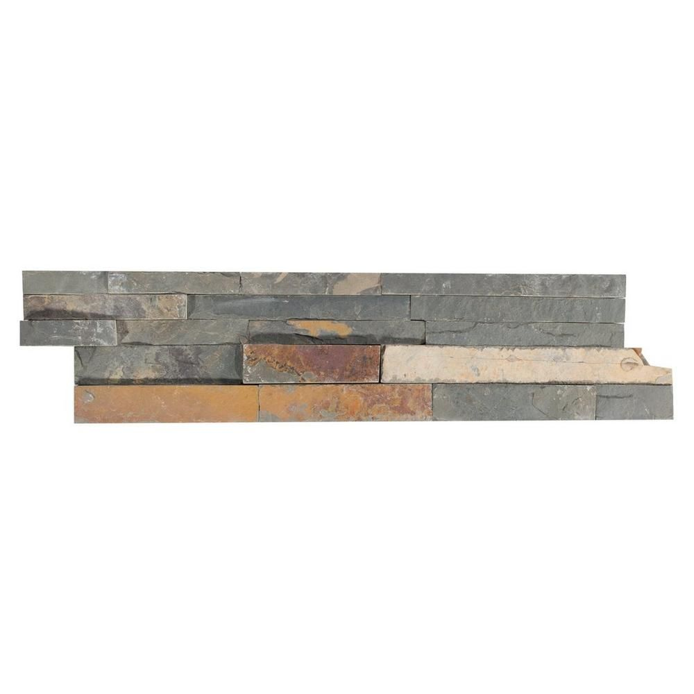 Jura Splitface Slate Panel Ledger 6in X 24in 100188796 Floor And Decor Floor Decor Faux Stone Panels Outdoor Stone