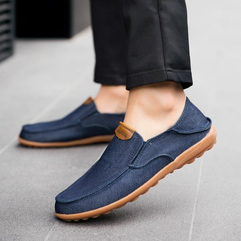New Men Loafer Lace Up Round Toe Casual Flat Summer Breathable Flat British Shoe