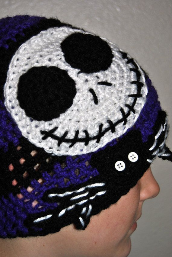 Nightmare Before Christmas Hat Slouch Hat Crochet