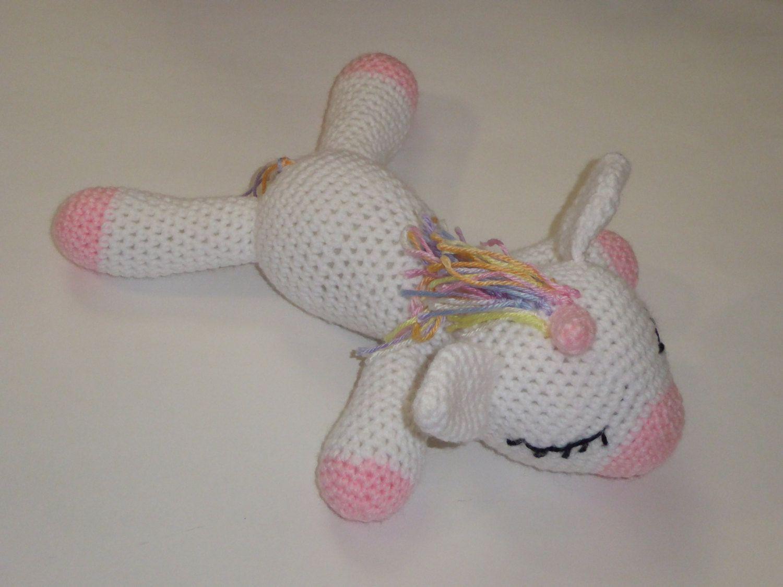 Amigurumi Unicorn : Rainbow unicorn amigurumi unicorn unicorn stuffed animal