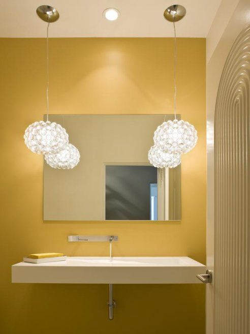 Hanging lights for the bathroom