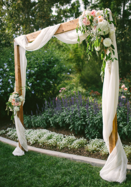 Altar Arch Use Fake Flowers To Decorate Matching Wedding Flowers