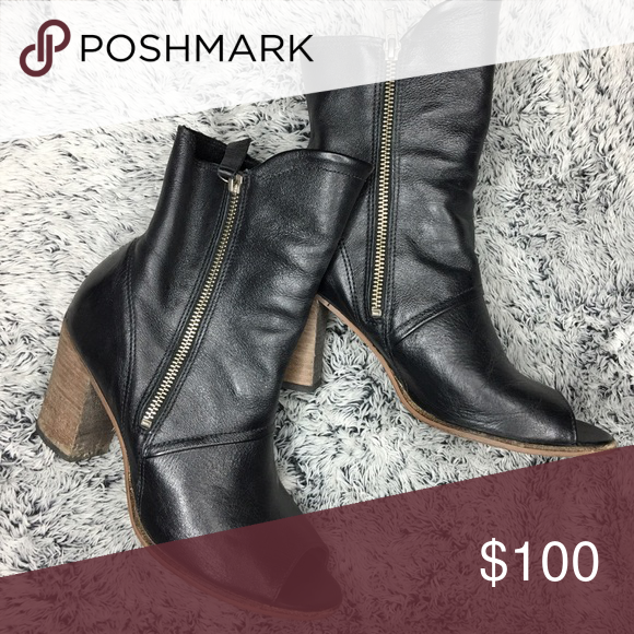 6825a103c7e4 Matisse leather open toed boots Sooooo cute! Worn maybe 3 times matisse Shoes  Ankle Boots