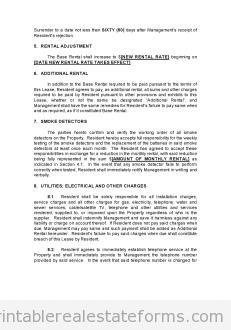 Sample Printable Pro Landlord Monster Lease Form