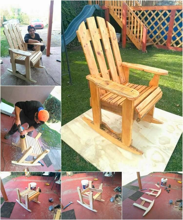 Diy Wood Pallet Rocking Chair Plan Rocking Chair Plans