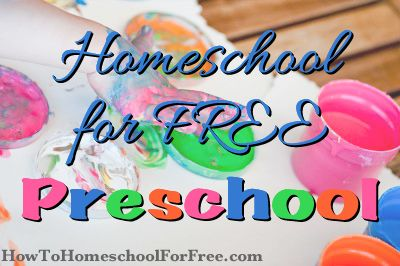 FREE Homeschool Resources For Preschoolers!!