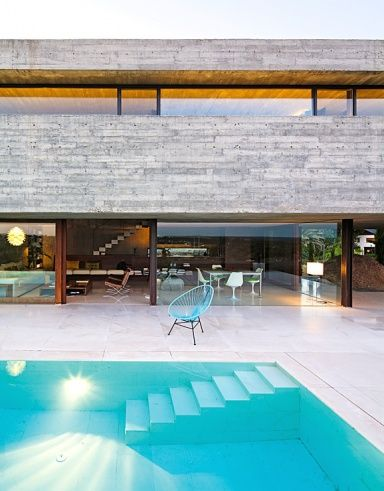 Terrassen Pool terrassen in architektenhäusern terrasse aus lärchenholz acapulco