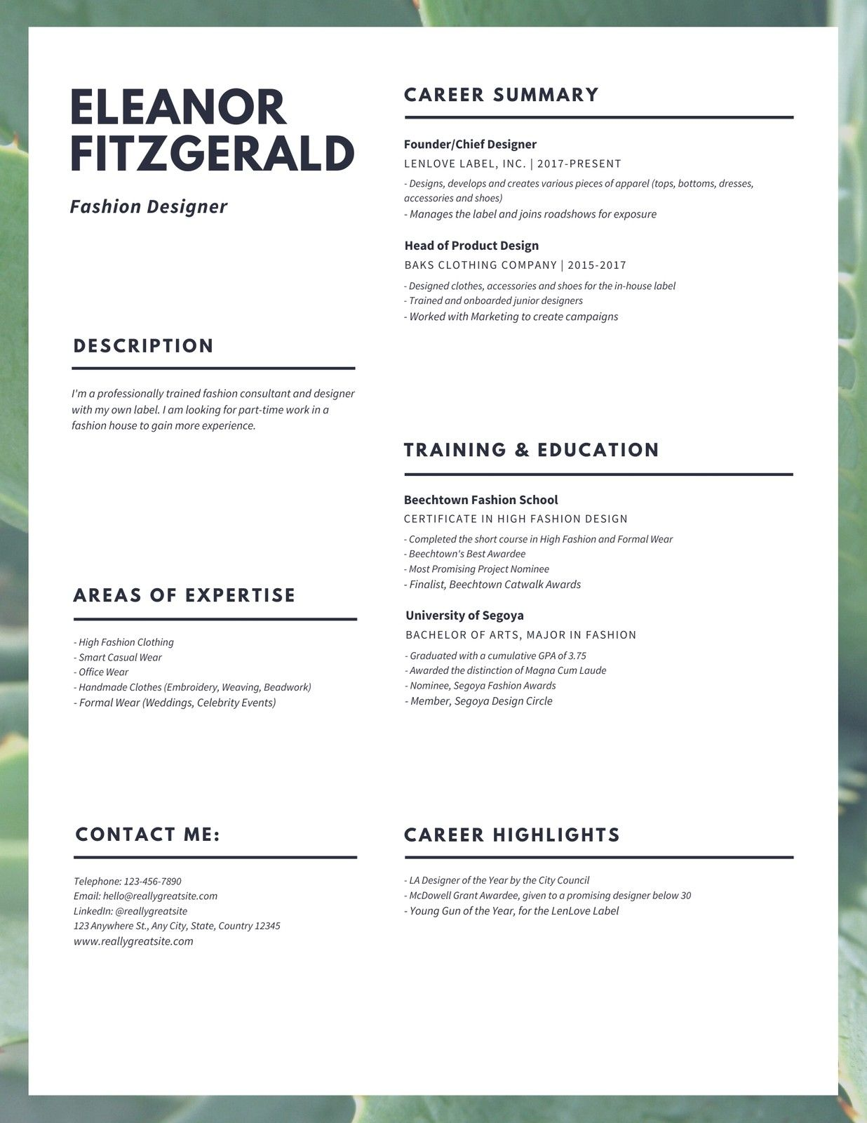 Lush Fashion Designer Resume Templates By Canva Ad Designer Ad Fashion Lush Canv In 2020 Fashion Designer Resume Resume Design Resume Template Professional