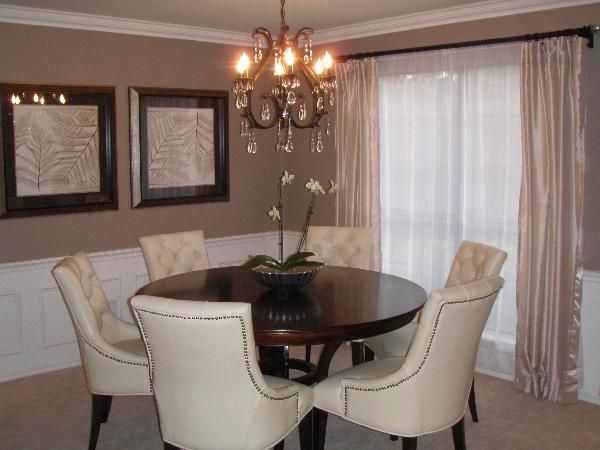 Dining room with black walls dining rooms sherwin for Brown taupe living room