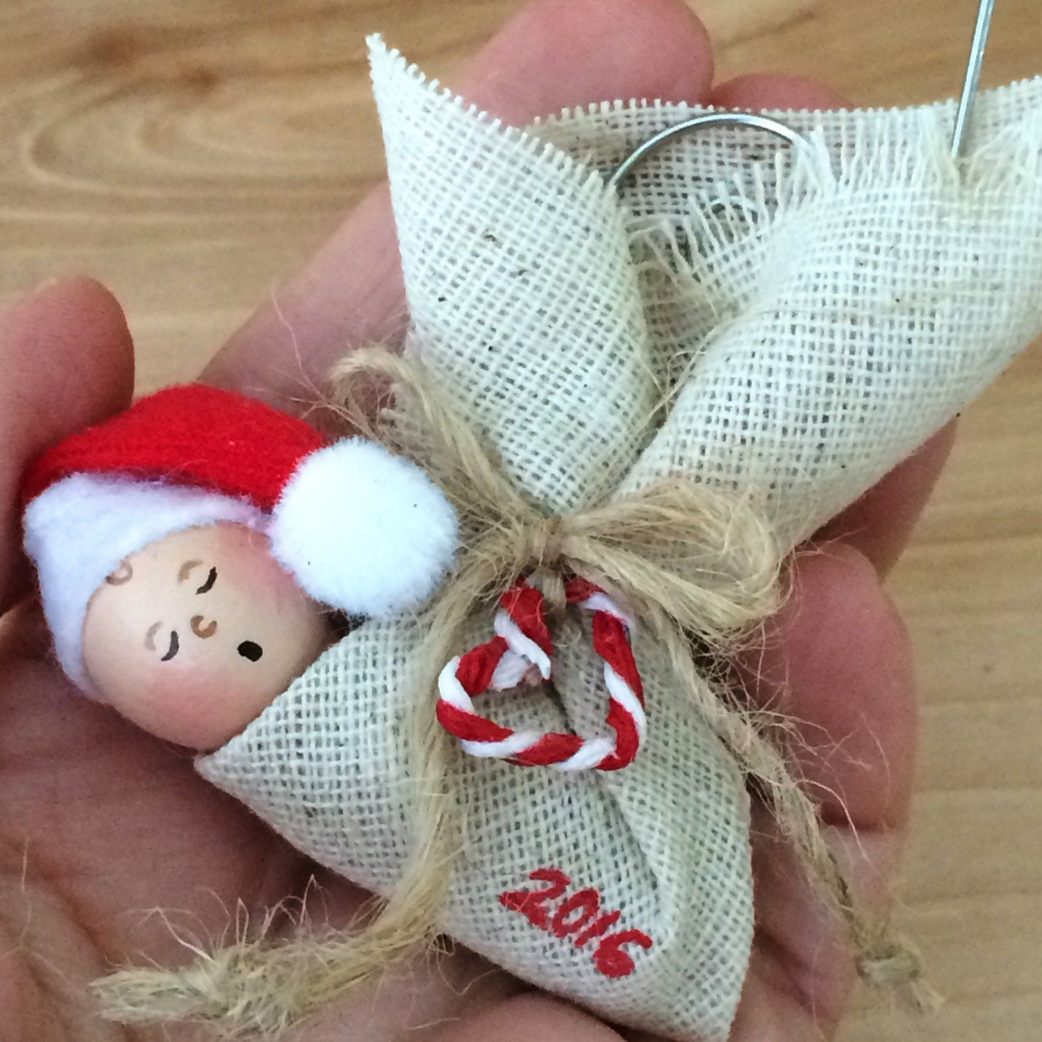 Handmade Christmas Ornament Religious Ornament Icon: 2018 Baby's First Christmas Ornament