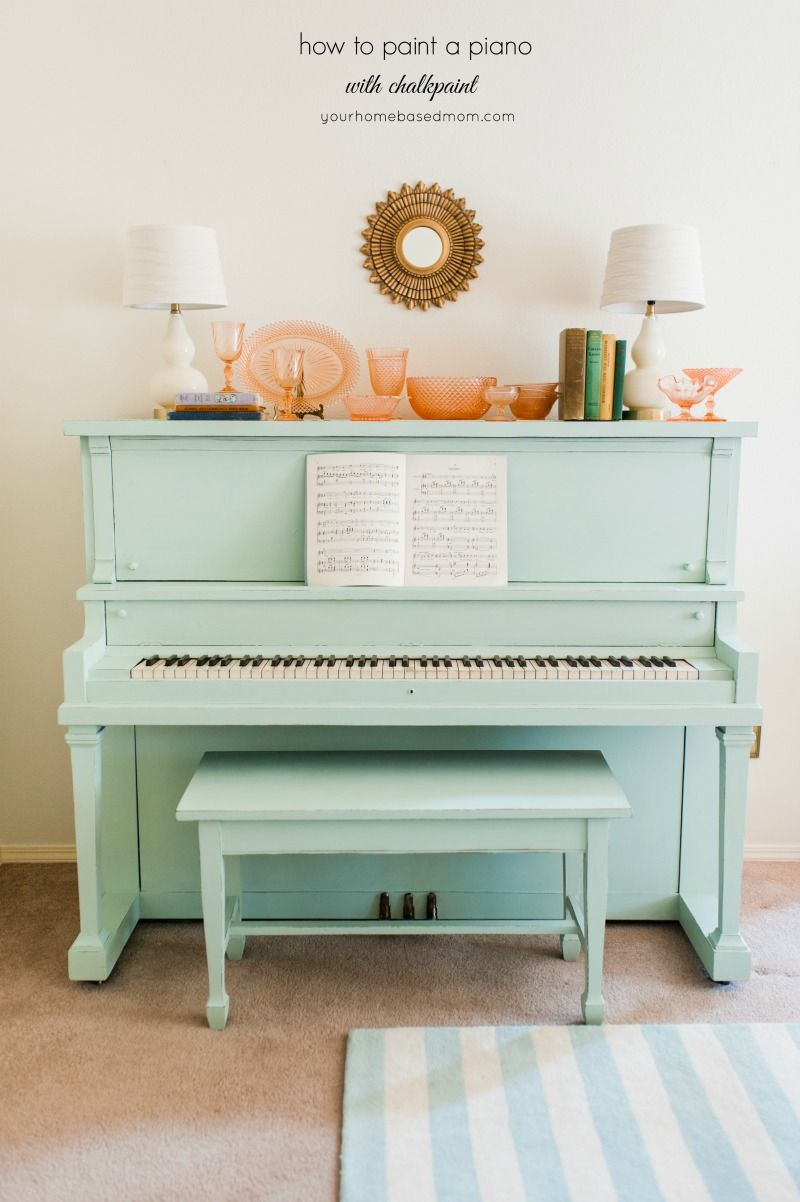 Arredare Con Pianoforte Verticale How To Paint A Piano With Chalkpaint What A Gorgeous Tutorial