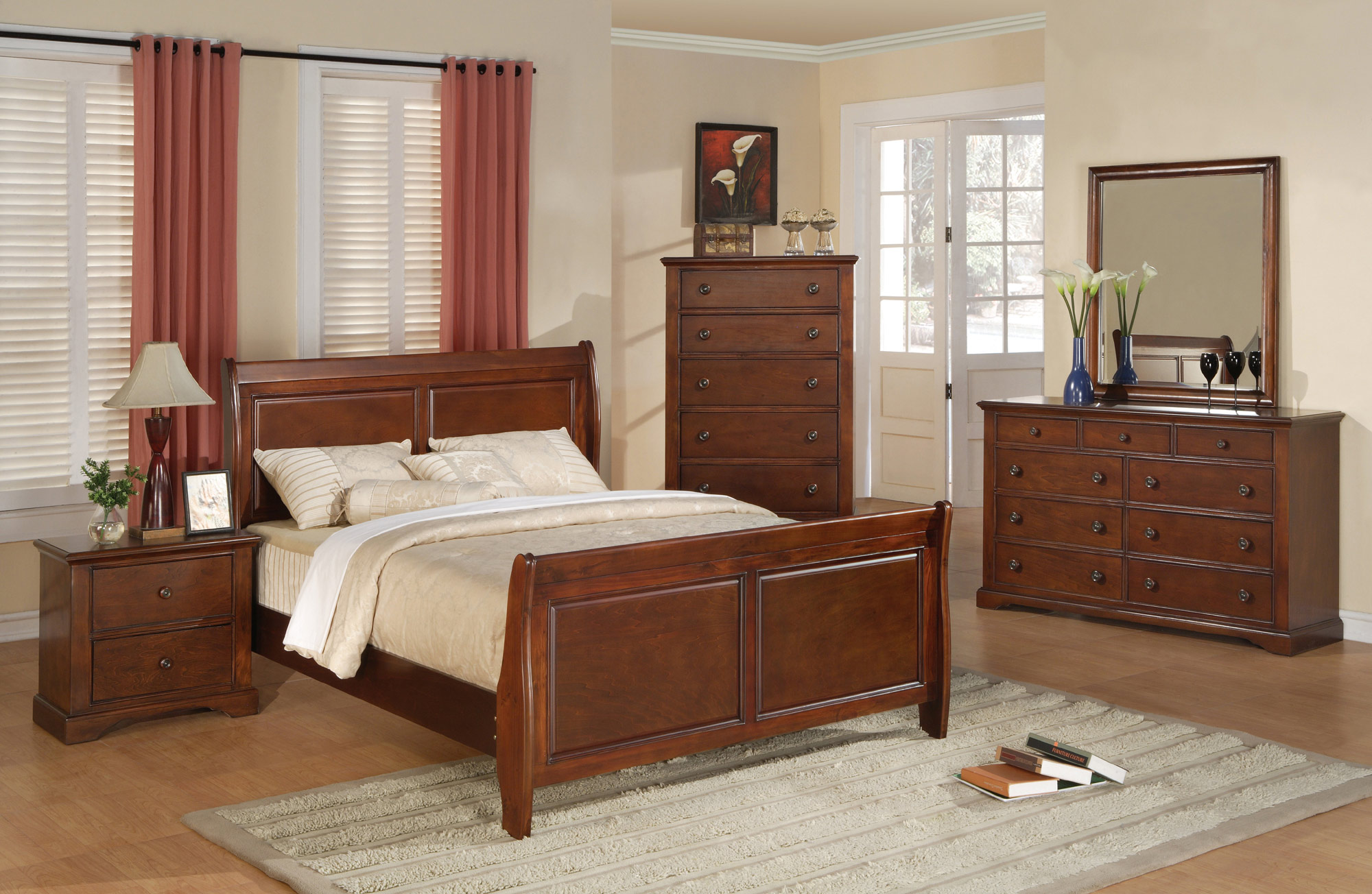 Chablis Queen Sleigh Bed Bernards Home Gallery Stores