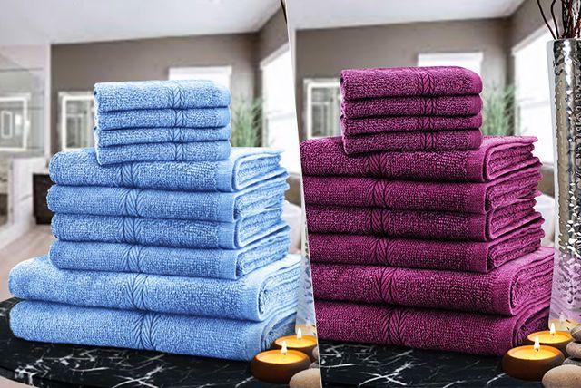 10pc Egyptian Cotton Towel Bale 12 Colours Egyptian Cotton
