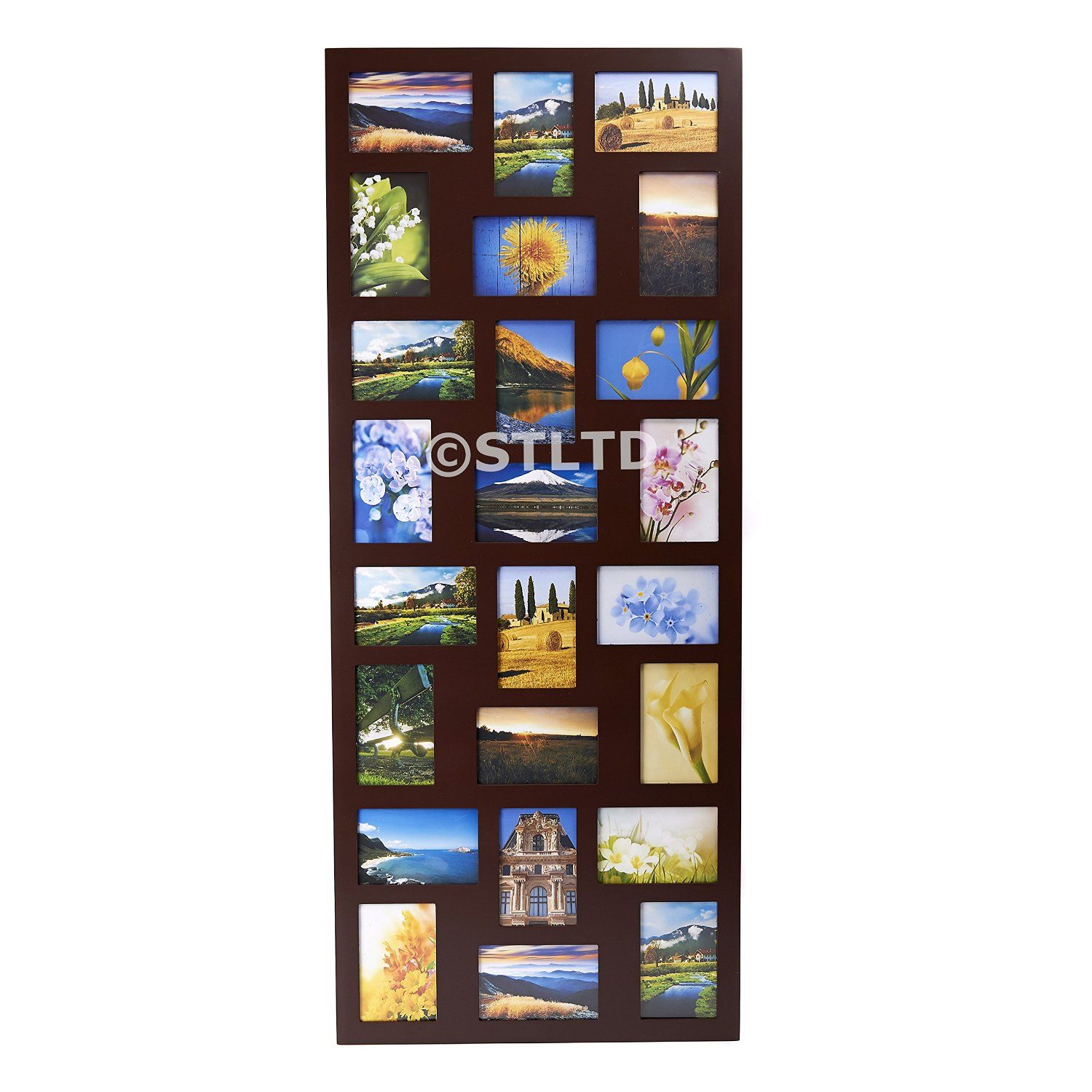 NEW PHOTO PICTURE FRAME HOLDS 24 PHOTOS APERTURE MULTI FRAME COLLAGE ...