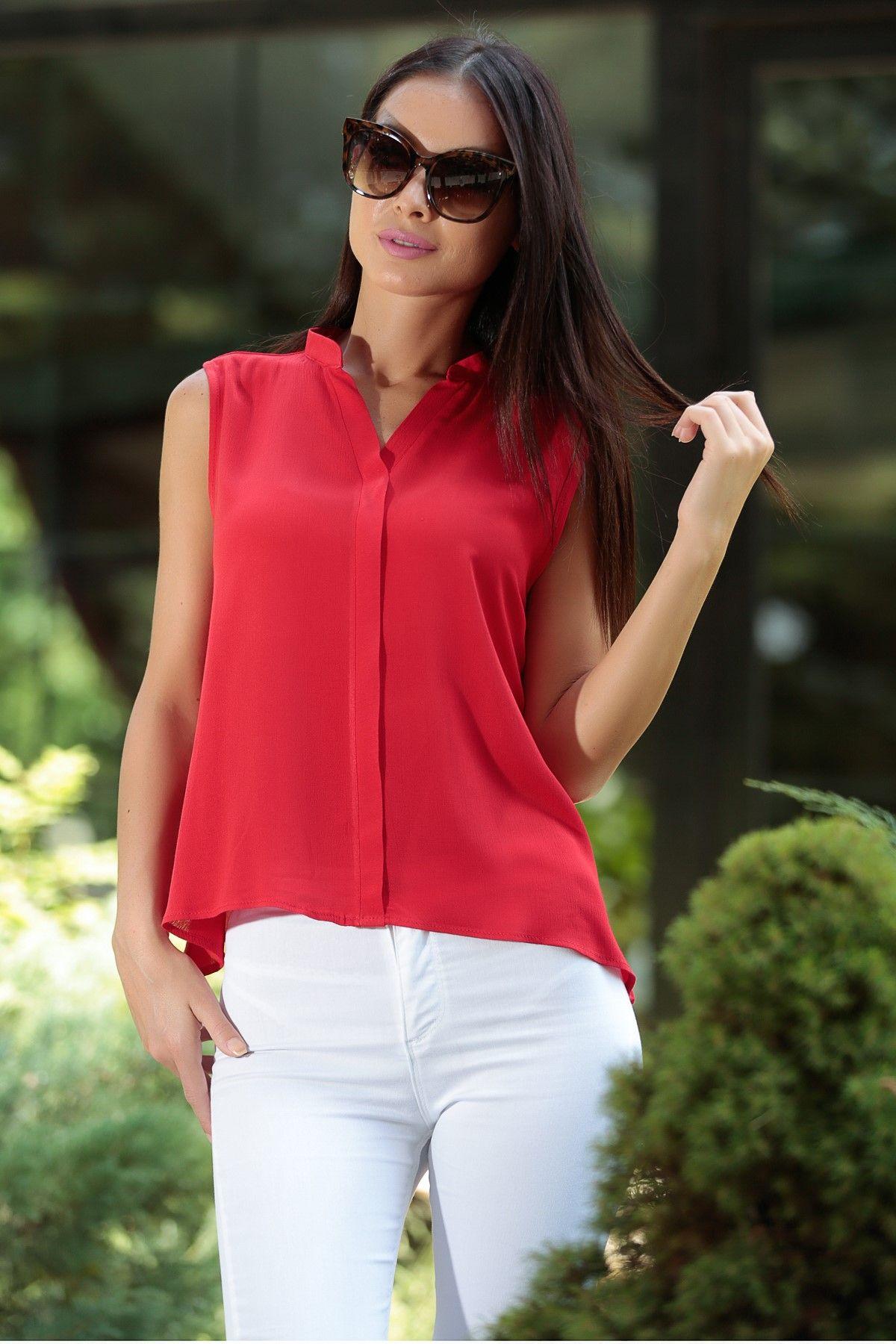 Bayan Kirmizi Bluz S 16y0030022 Trendler Bluz Giyim