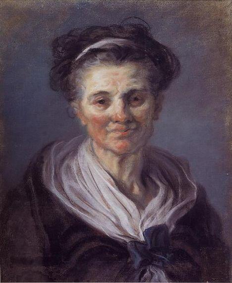 Portrait de vieille femme - Pastel 59x50 Fragonard   Jean honore fragonard, Portrait drawing ...