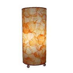 Hmmm This Looks Easy To Make Orange Banyan Leaf Table Lamp Philippines Table Lamp Lamp Orange Table Lamps