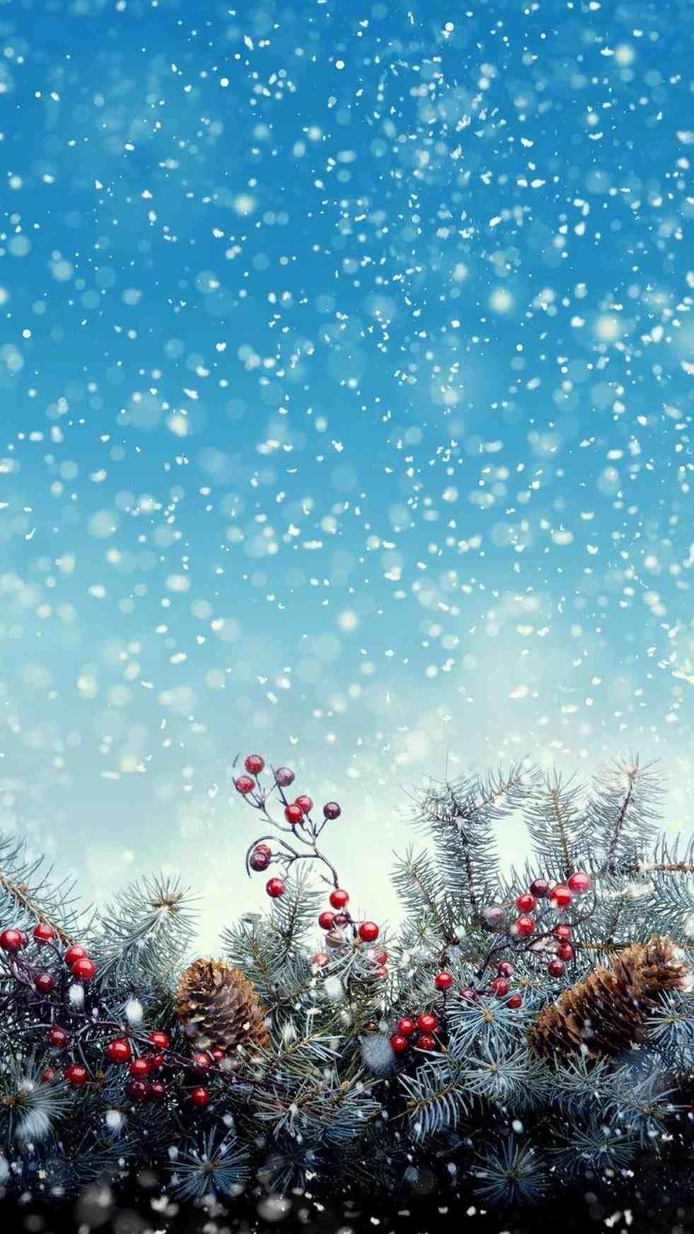 New Christmas Lights Snow Wallpaper Iphone At Temasistemi