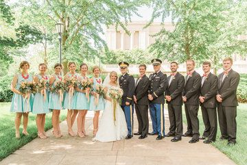 the entire bridal party  Photo from Kaitlyn and Nate collection by Brianne Elizabeth Photography