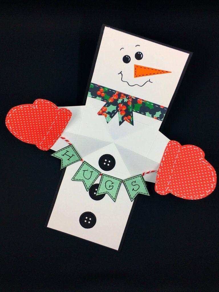 Snowman Twist And Pop Card Pop Up Christmas Cards Diy Christmas Cards Christmas Cards Handmade