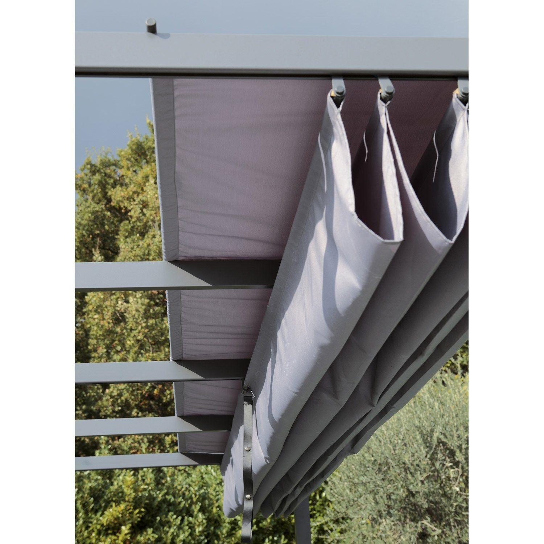 Toile Polyester Anet Niagara Gris L 282 X L 400 Cm Pergola Tonnelle Pergola Rideaux Pergola