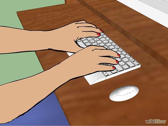 Keep your wrist posture neutral. http://www.ergooffice.co.nz/