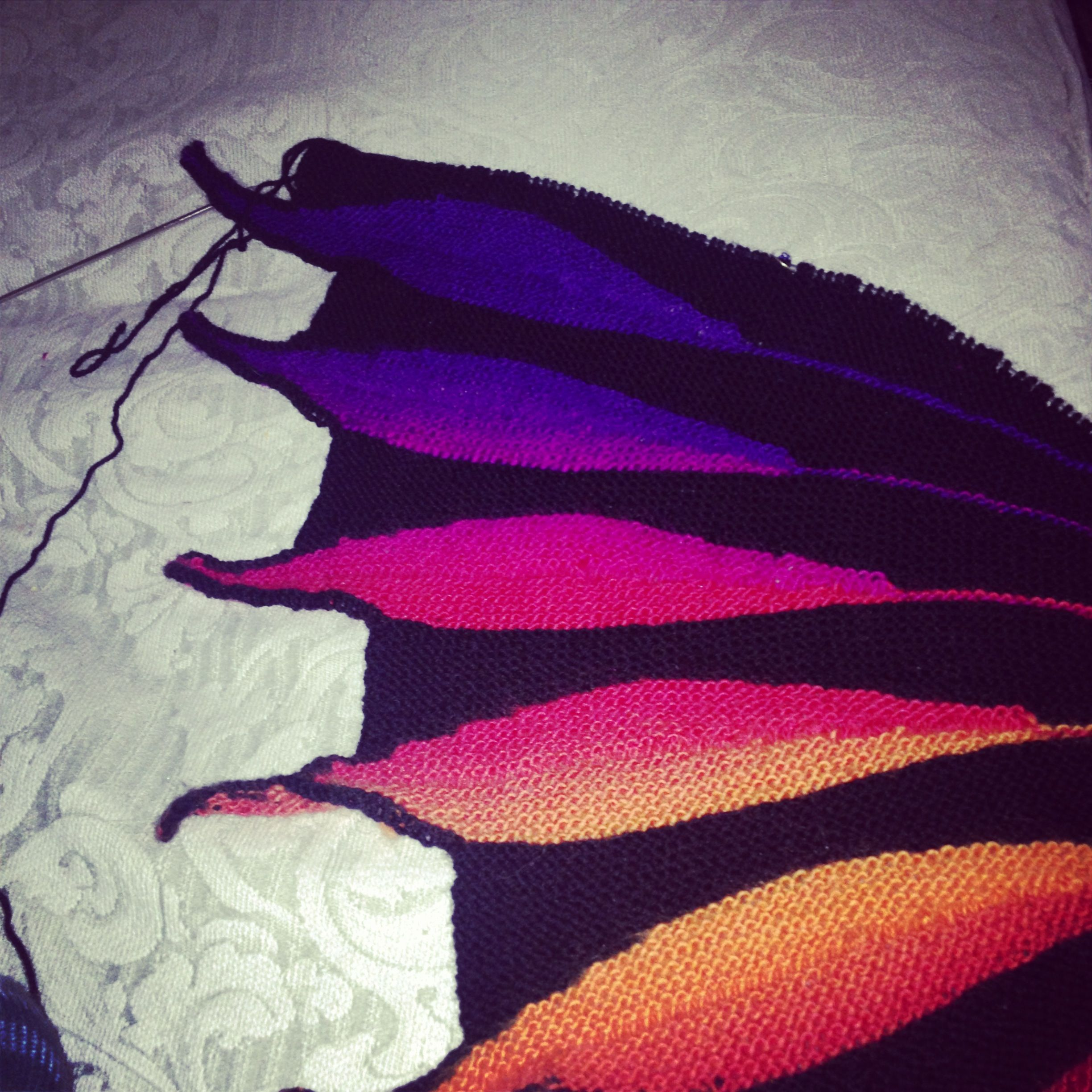 6th feather on my Dreambird shawl | Dreambird | Knitting ...