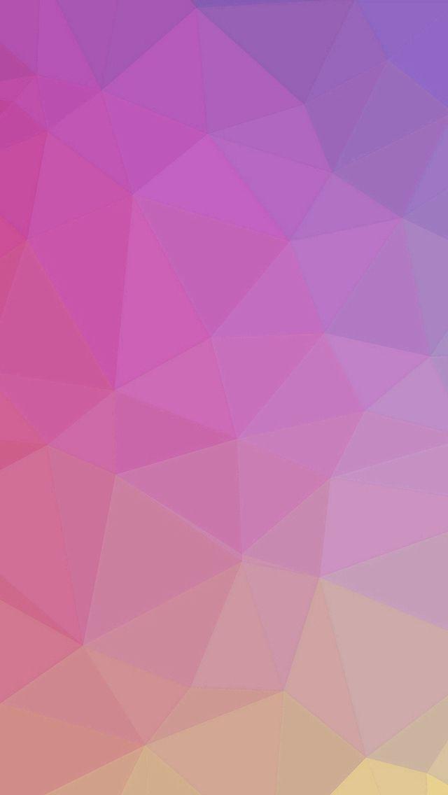 Polyart Pastel Pink Yellow Pattern iPhone 5s wallpaper