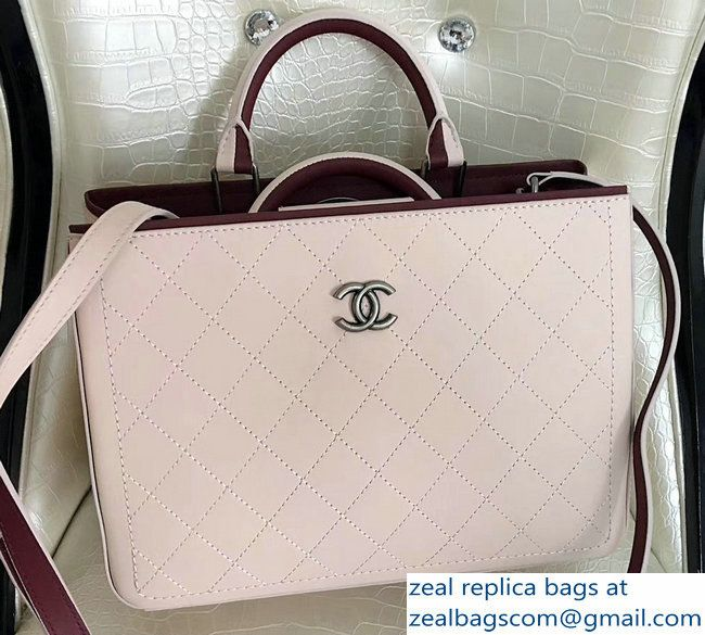 e72696c53bb6 Chanel Bi-color Hampton Bullskin Medium Shopping Bag A57201 Beige ...