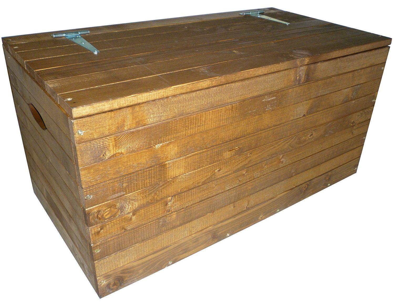 Cassapanca mobile baule box panca in legno marrone noce porta oggetti biancheria legna - Cassapanca in legno ikea ...