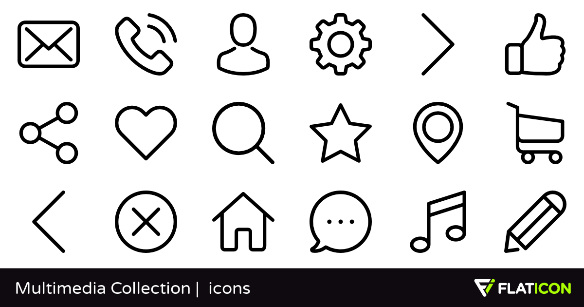 50 free vector icons of multimedia collection designed by gregor