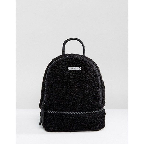 c9058aa5f69 ALDO Anancoedo Faux Shearling Mini Backpack (£59) ❤ liked on Polyvore  featuring bags