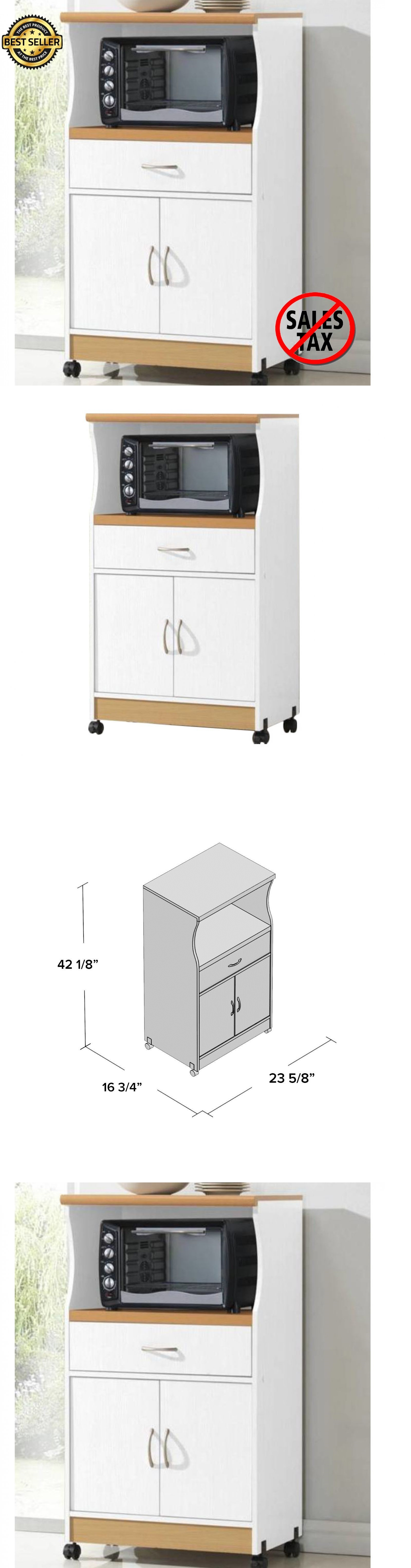 Kitchen Islands Kitchen Carts 115753: Rolling Microwave Cart Wood ...