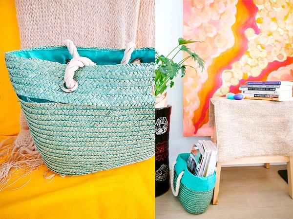 Recycled basket by Canney Yin