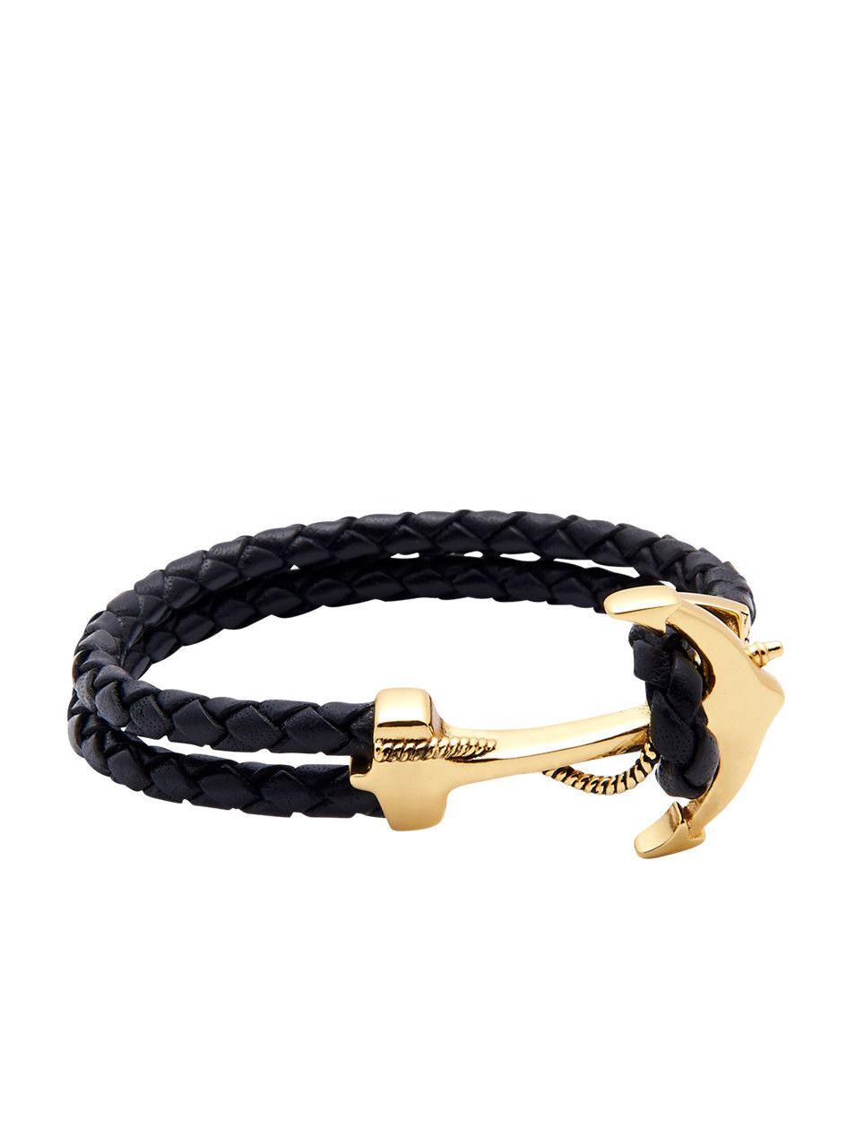 Nialaya Blue Leather Bracelet with Black Hook Lock - Extra Large 3SIvU