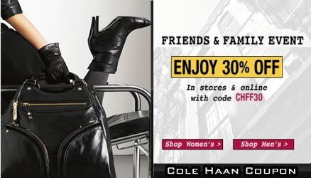 10% Off Your Next Purchase with Cole Haan Email Sign Up