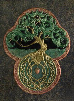 Celtic tree design.....Cast Paper art of Kevin Dyer