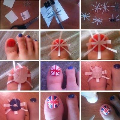 union jack nail tutorial  simple nail designs cool nail