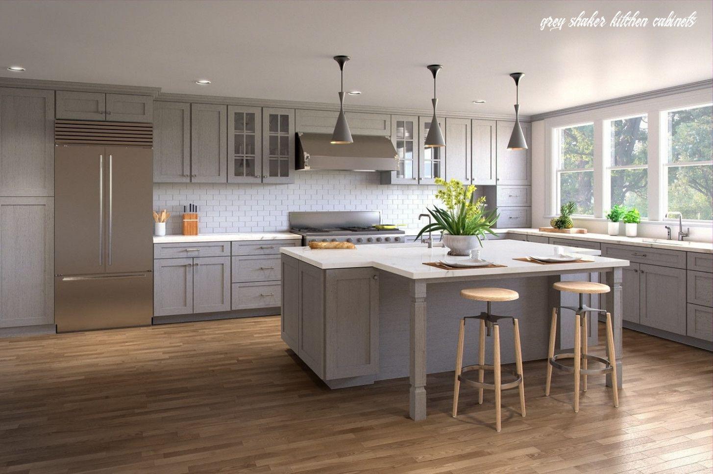 Custom Kitchen Cabinets Lifetime Warranty Custom Sizes Custom Kitchen Cabinets Grey Kitchen Island Kitchen Design