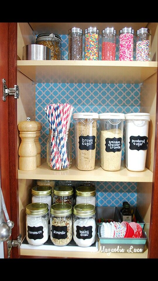 Baking Organizing Kitchen  Pantry Pinterest Organizing