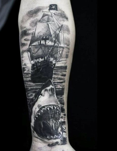 c9369799f 70 Ship Tattoo Ideas For Men - A Sea Of Sailor Designs | Tattoos ...