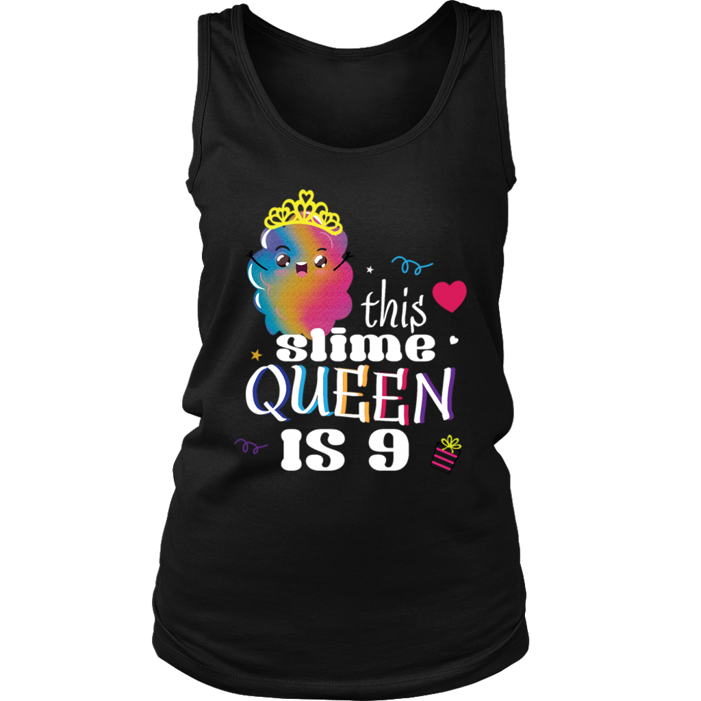 9th Birthday Slime Shirt Girls